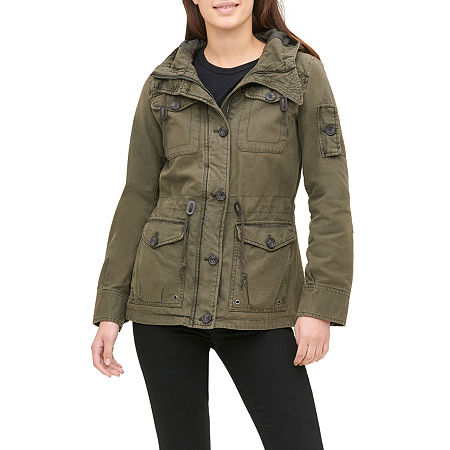 Levi's Hooded Midweight Field Jacket, Medium , Green