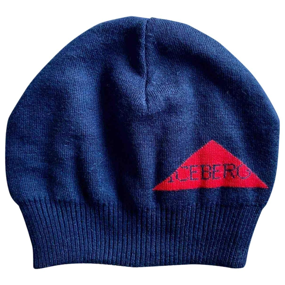 Iceberg - Chapeau & Bonnets   pour homme en laine - bleu