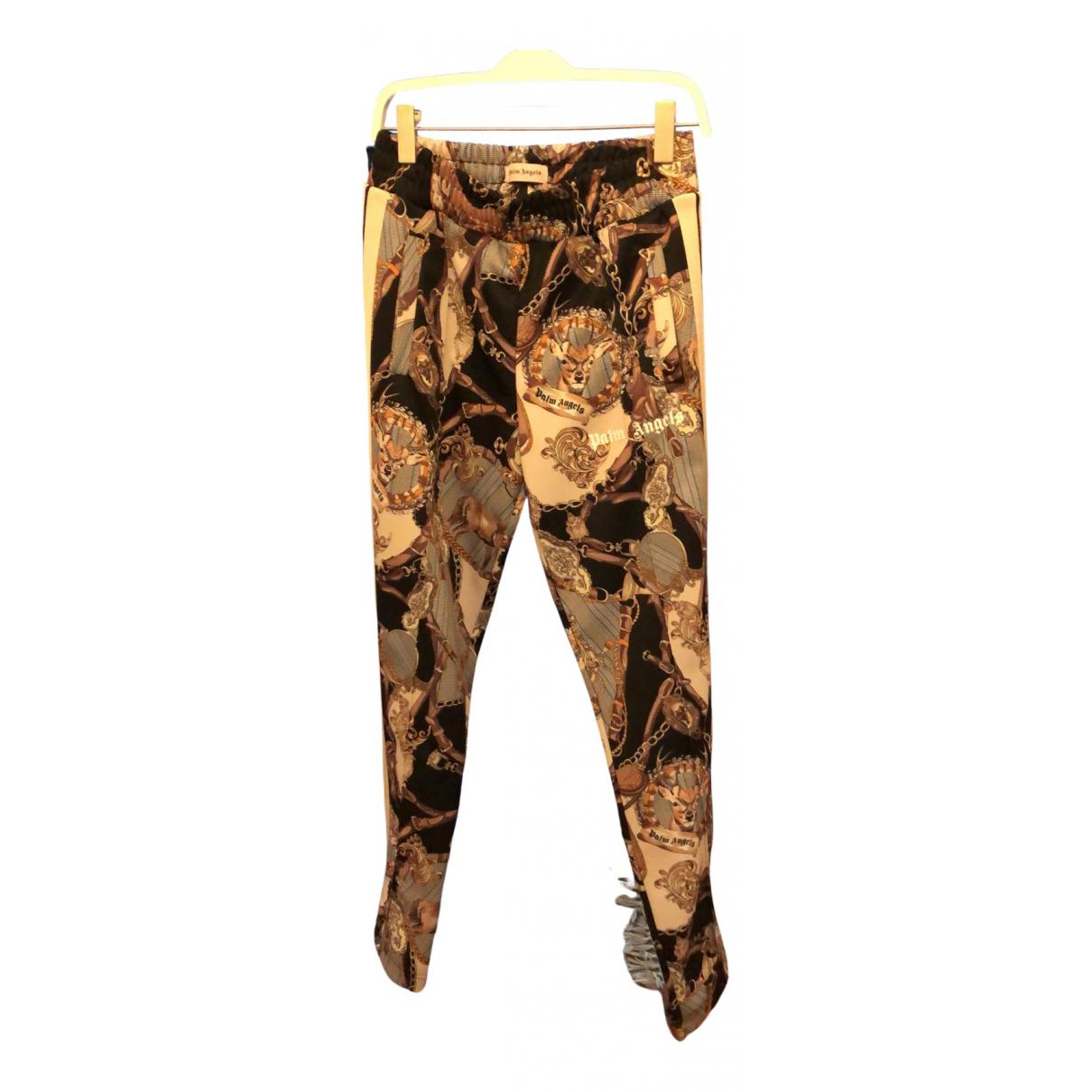 Palm Angels N Khaki Cotton Trousers for Men M International