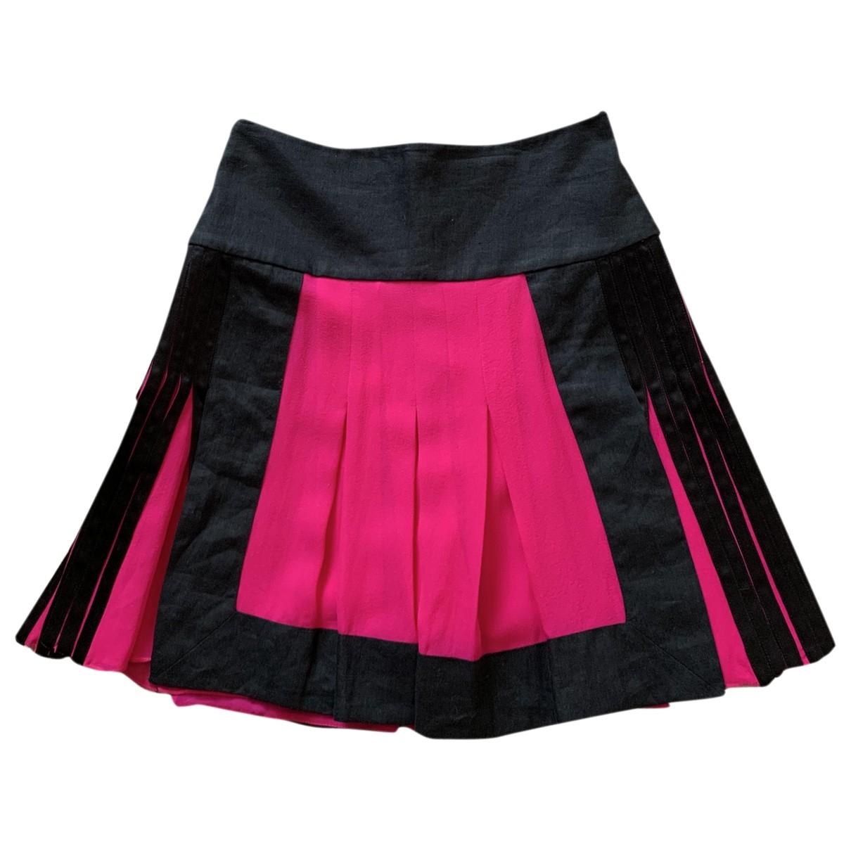 Etro \N Pink Silk skirt for Women 38 IT