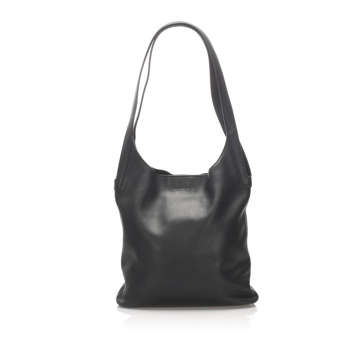 Loewe - Sac a main   pour femme en cuir - noir