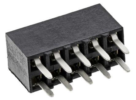 TE Connectivity , AMPMODU MOD IV 2.54mm Pitch 10 Way 2 Row Straight PCB Socket, Through Hole, Solder Termination (5)