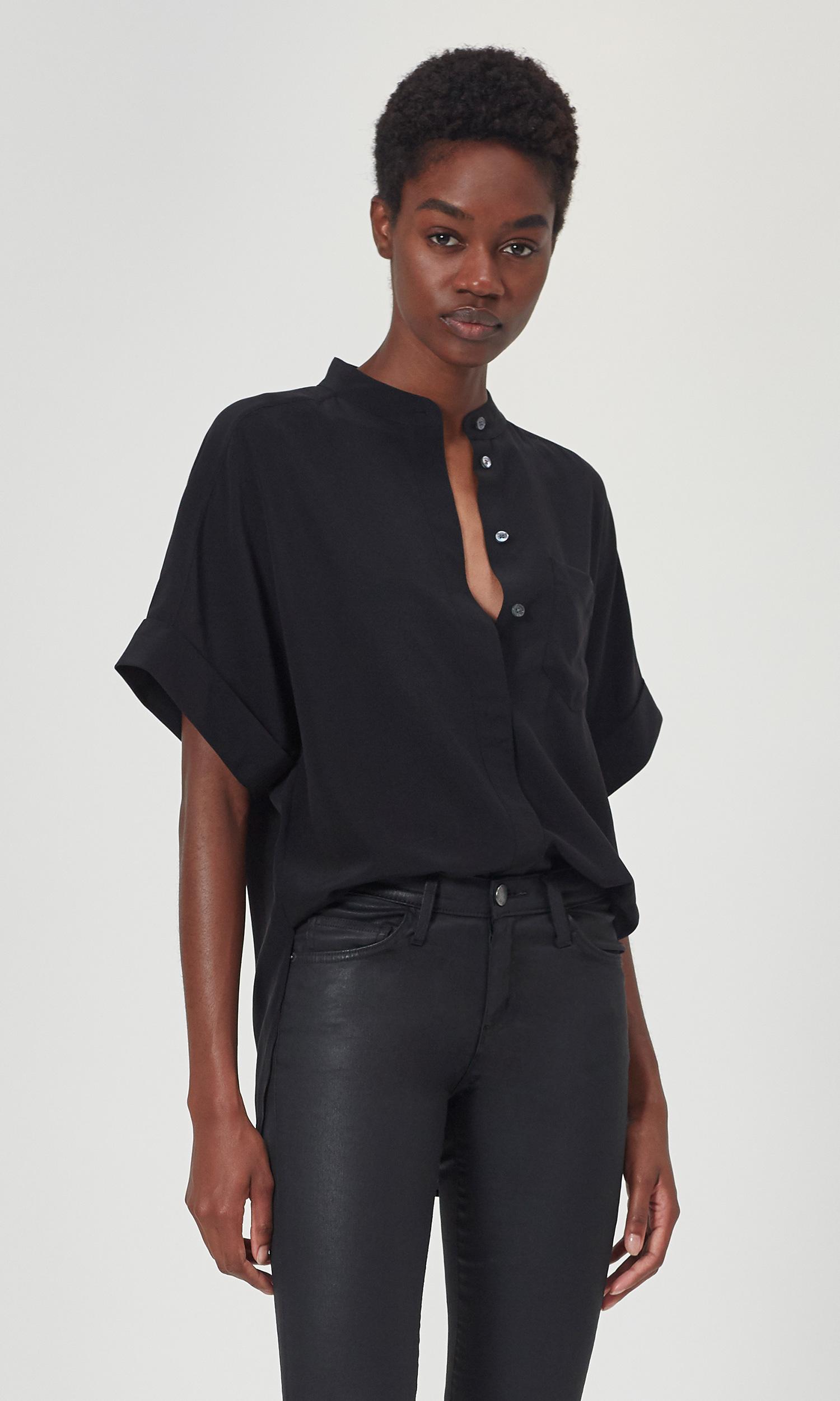 Alvia Short Sleeve Silk Top by Equipment