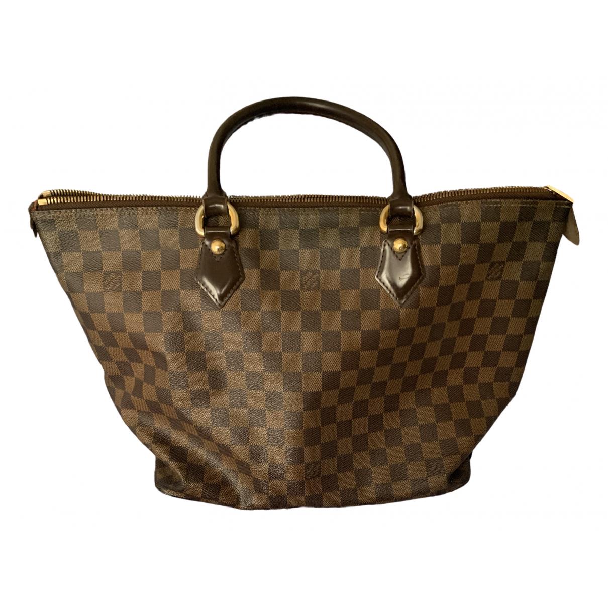 Louis Vuitton Saleya Handtasche in  Braun Leinen