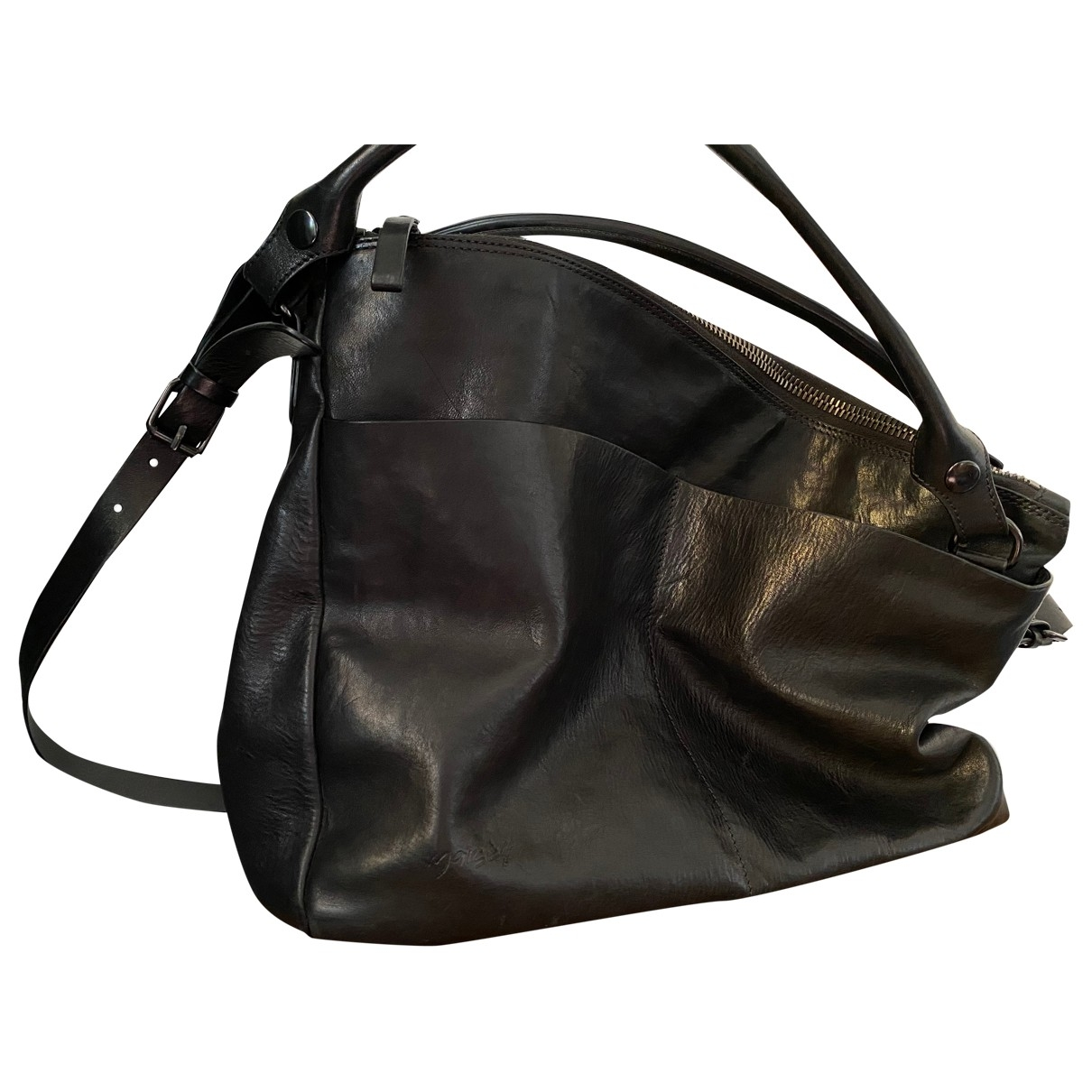 Marsell - Sac a main   pour femme en cuir - noir
