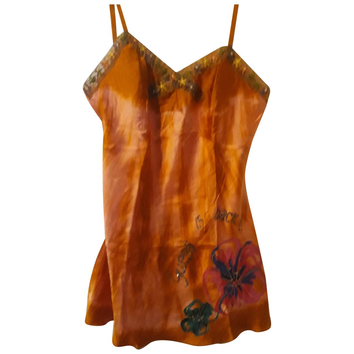 Guess N Orange Silk  top for Women S International
