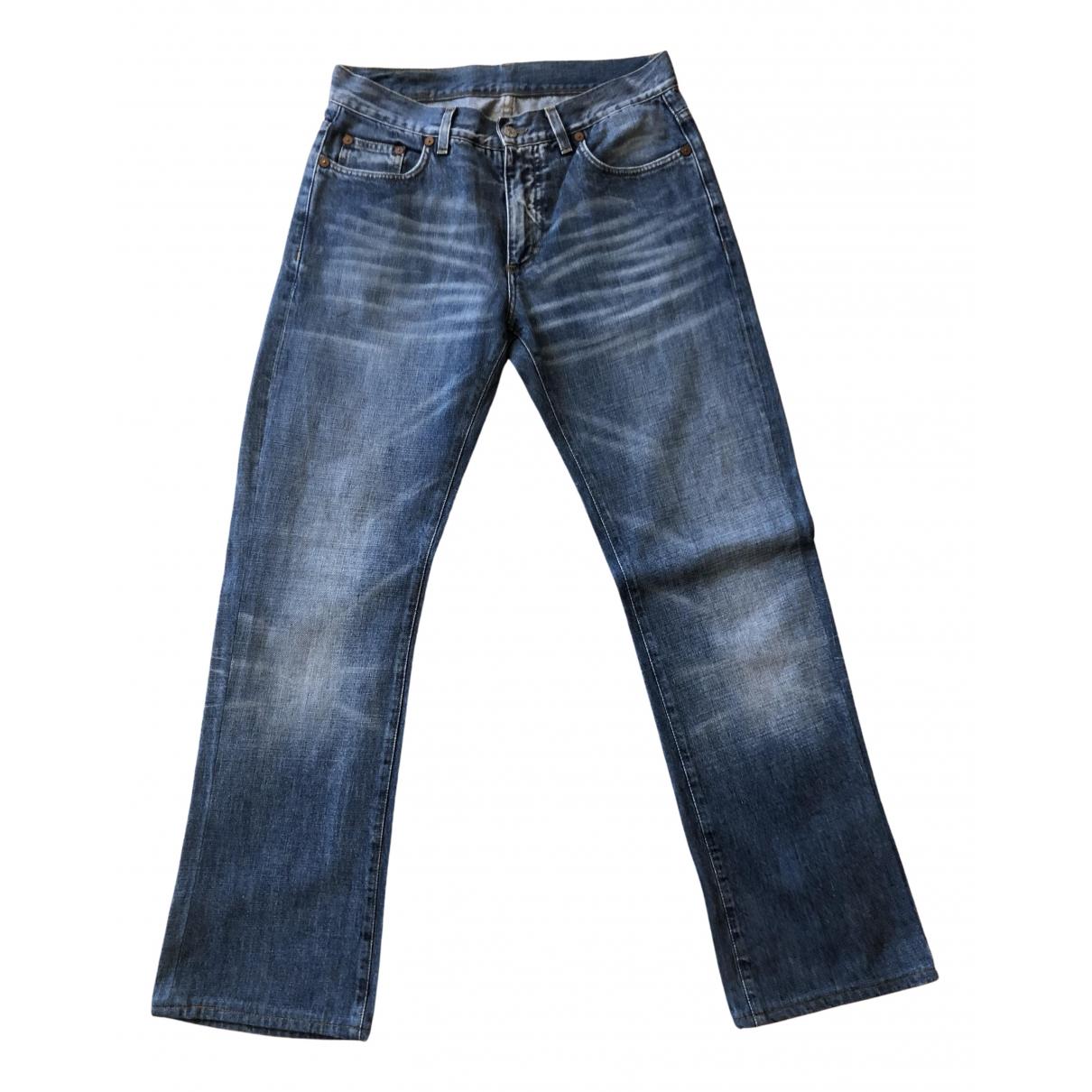 Gucci \N Blue Cotton Jeans for Men 34 US