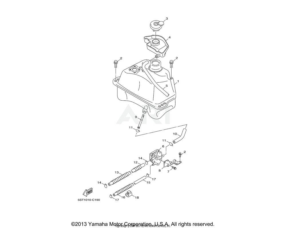 Yamaha OEM 5ST-F4311-00-00 PIPE, FUEL 1