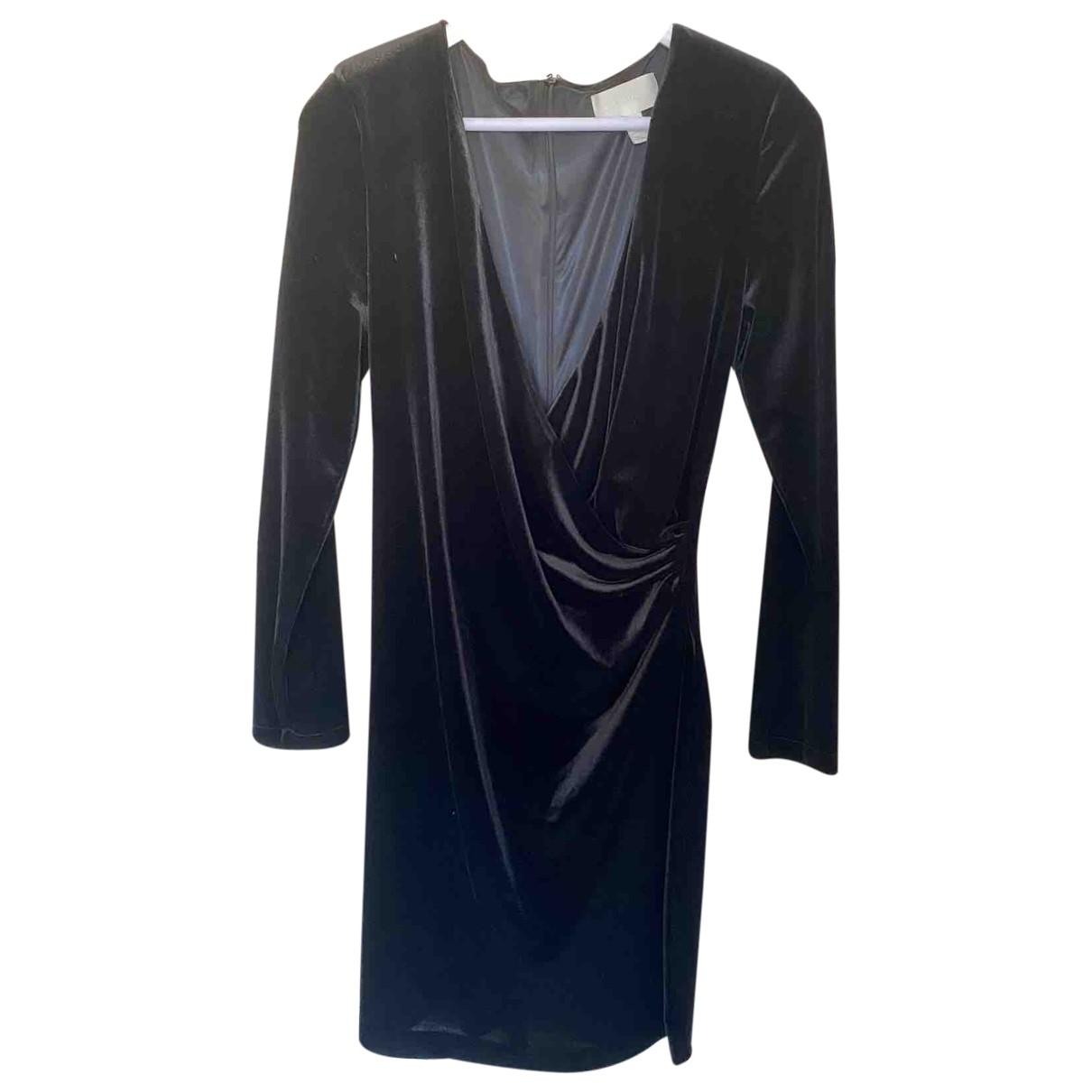 Mango \N Kleid in  Schwarz Samt