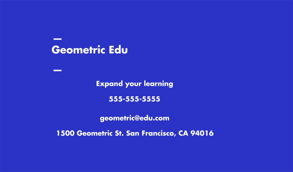 Education Business Cards, Set of 40, Rounded Corner, Card & Stationery -Geometric Pattern