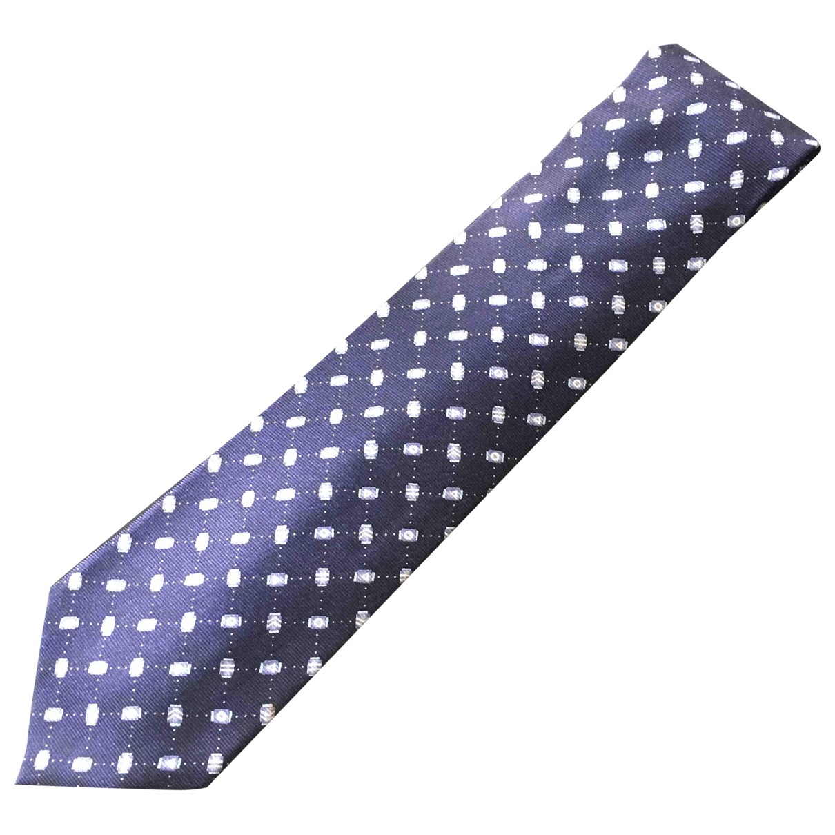 Bvlgari \N Krawatten in  Marine Seide