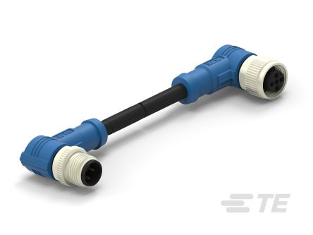 TE Connectivity Circular Connector, 4 contacts Cable Mount M12 x M12 Plug and Socket, Crimp IP67