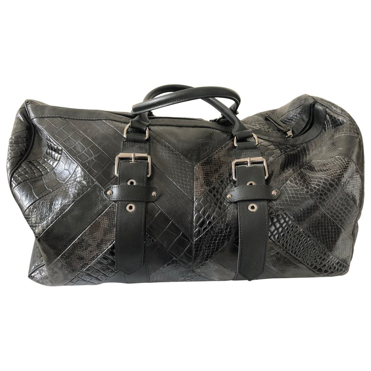 Longchamp - Sac de voyage Kate Moss pour femme en cuir - noir