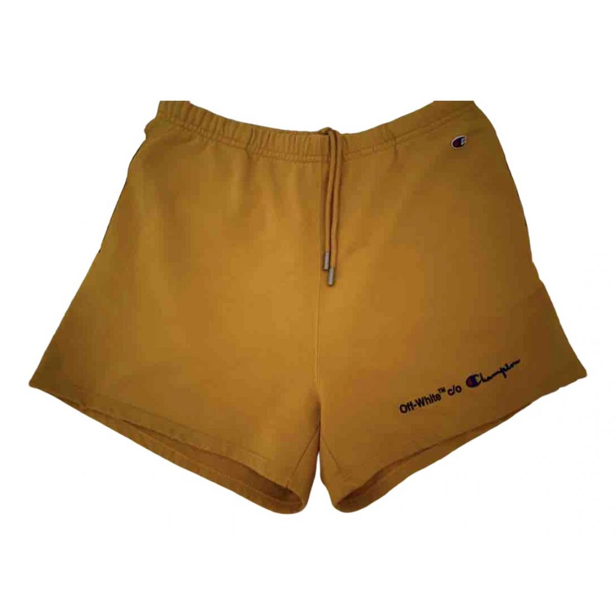 Off-white \N Shorts in  Gelb Baumwolle