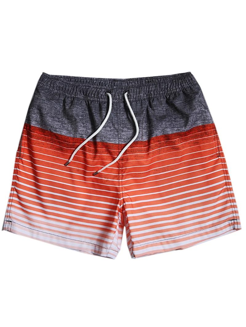 Ericdress Mens Straight Knee Length Beach Shorts