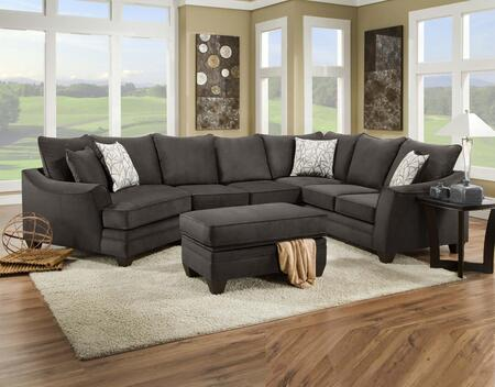 183840-4040-SEC-FS Campbell 3 PC Sectional with Toss Pillows  Left Arm Facing Cuddler  Armless Loveseat  Right Arm Facing Corner Sofa and Fabric
