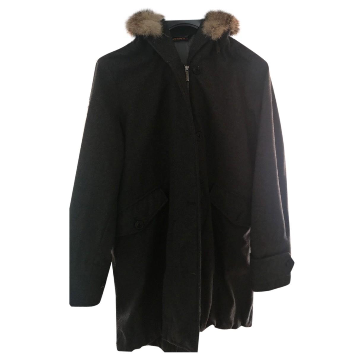 Woolrich - Manteau   pour femme en laine - gris