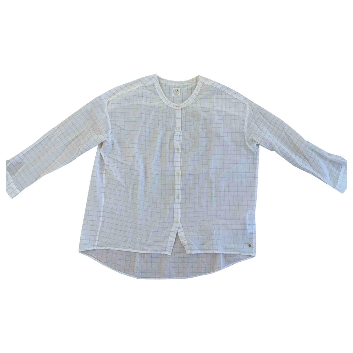 Des Petits Hauts - Top   pour femme en coton - blanc