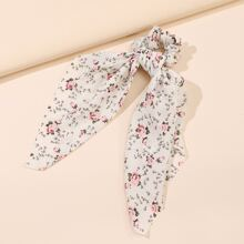 Ditsy Floral Pattern Scrunchie Scarf