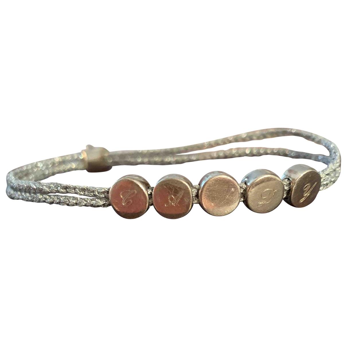 Monica Vinader - Bracelet   pour femme en toile - argente