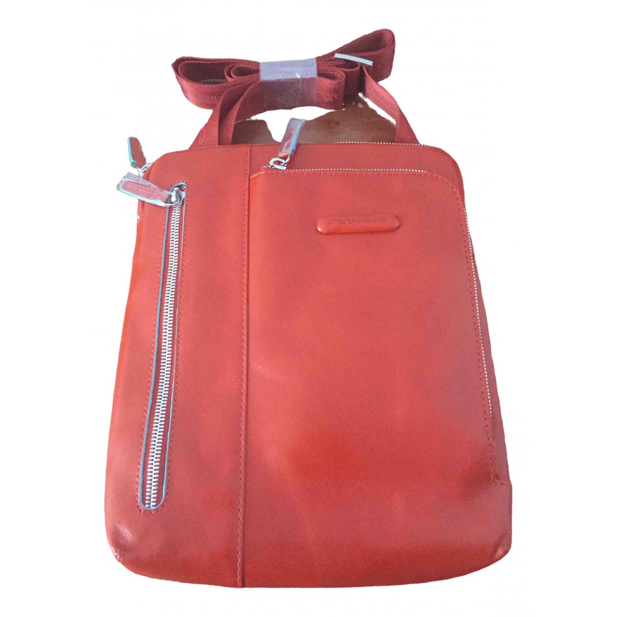 Piquadro \N Orange Leather handbag for Women \N
