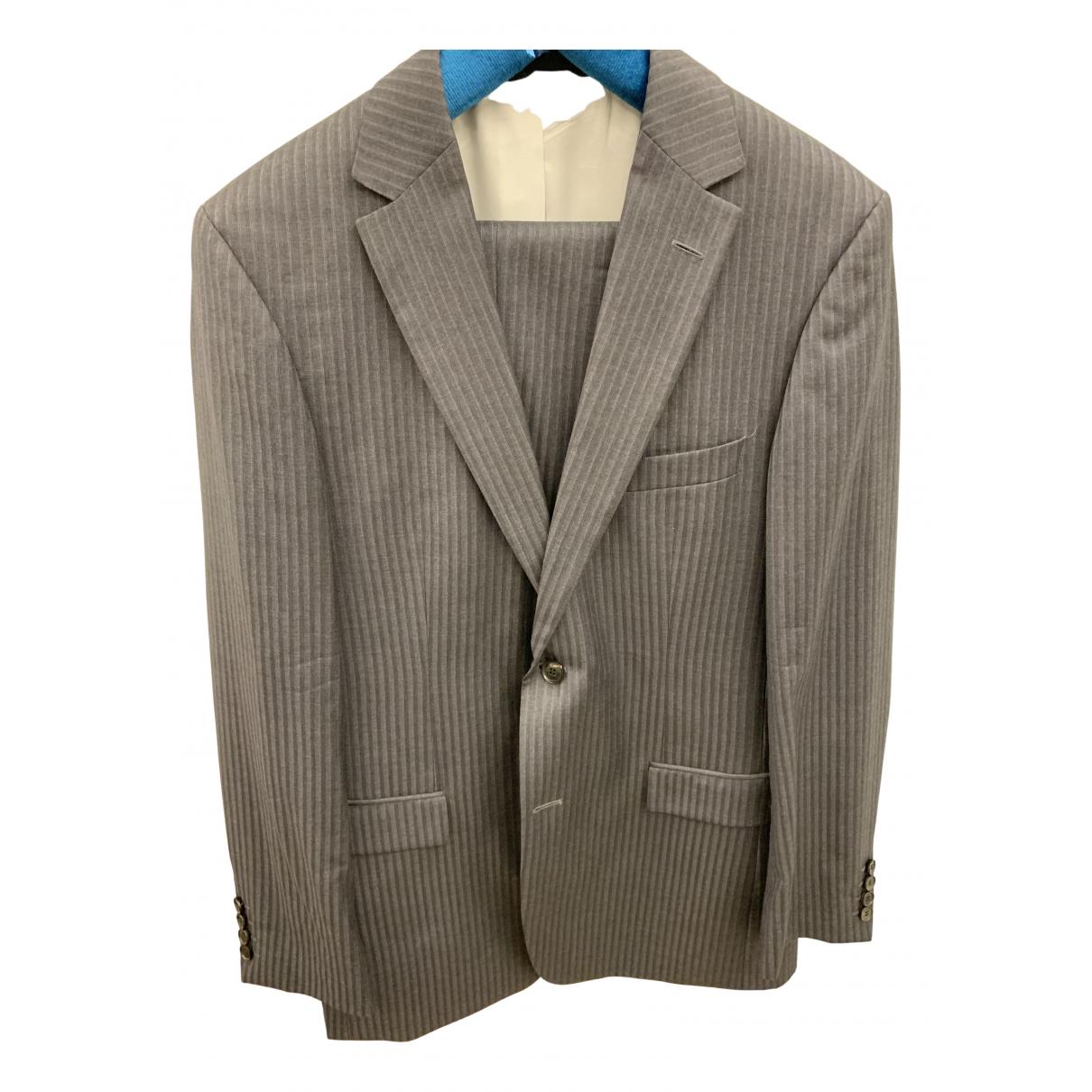 Boss \N Grey Wool Suits for Men 52 FR
