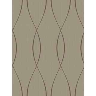 Shimmer Ribbon Weave Wallpaper, 27 feet long X 27 inchs Wide, Silver and Sapphire (Copper and Coffee)