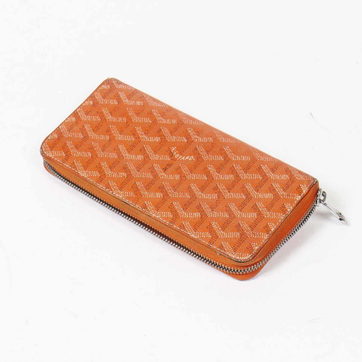 Goyard \N Portemonnaie in  Orange Baumwolle