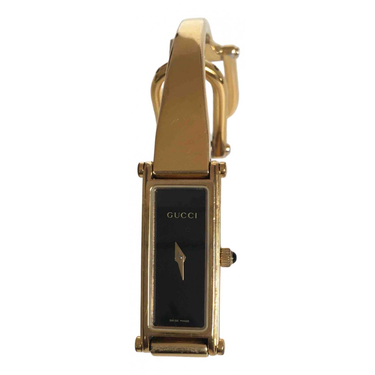 Gucci - Montre Horsebit pour femme en acier - dore