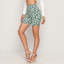 Daisy Print Legging Shorts