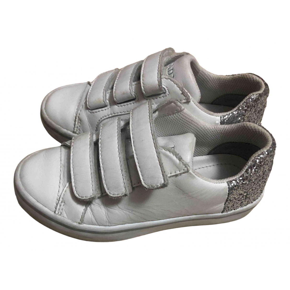 Prada \N White Leather Trainers for Kids 29 FR