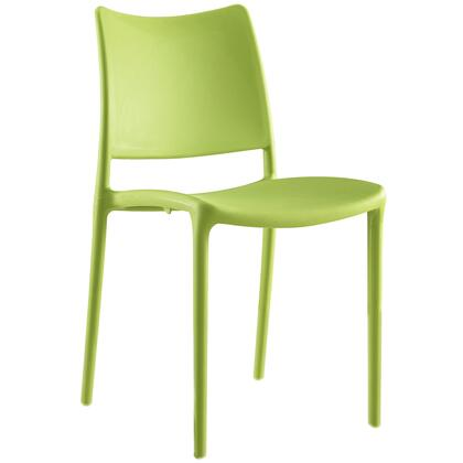 Hipster Collection EEI-1703-GRN Dining Side Chair with Contoured Seat/Backrest  Indoor/Outdoor Use  Non-Marking Plastic Foot Glides and Polypropylene