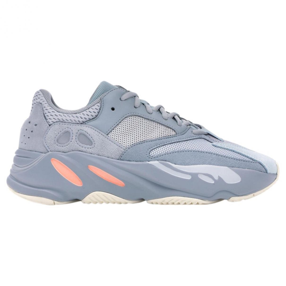 Yeezy X Adidas - Baskets Boost 700 V2 pour femme en suede - bleu