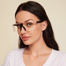 Rimless Clear Frame Glasses