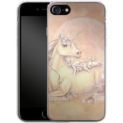 Apple iPhone 7 Silikon Handyhuelle - Purrfect Friends von Selina Fenech