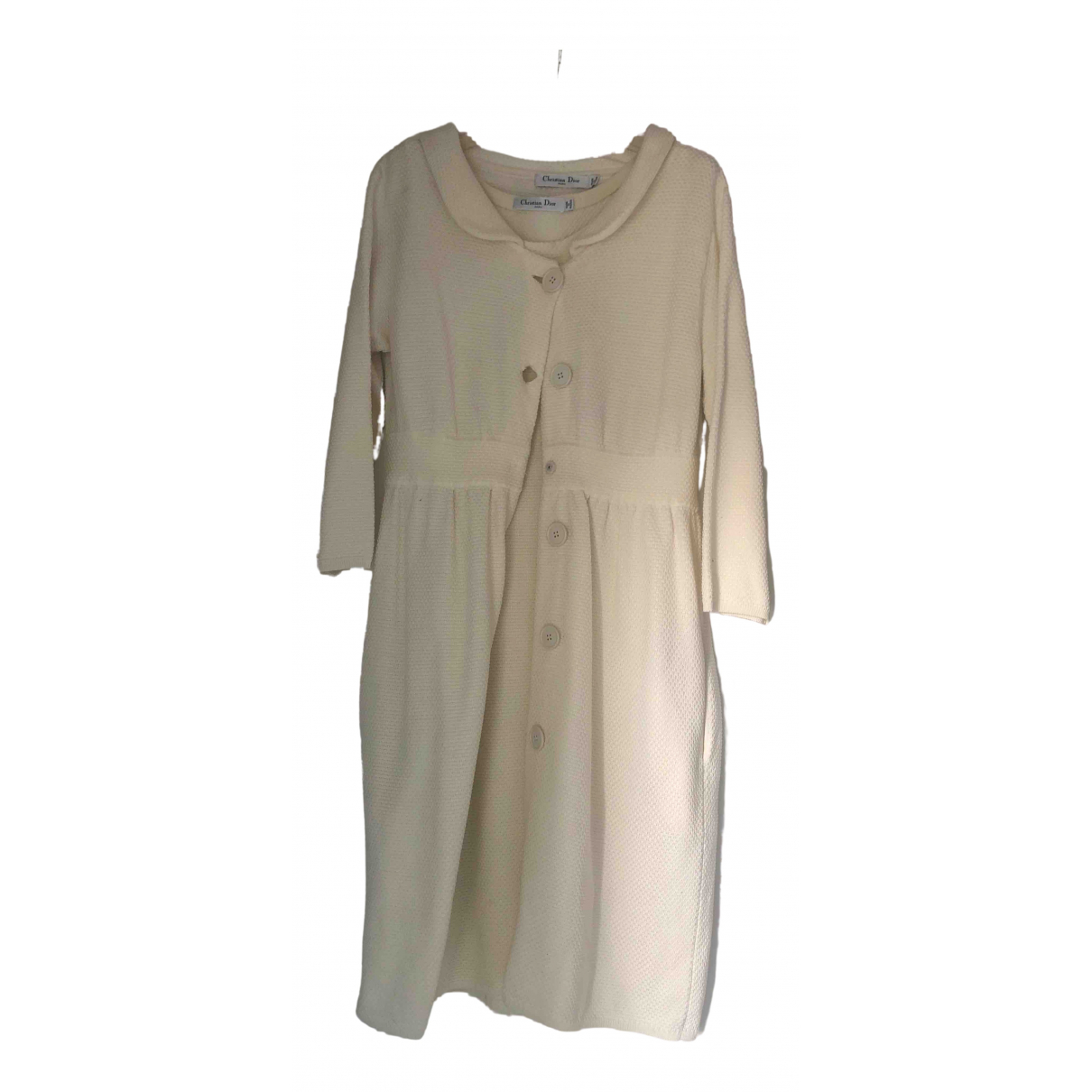 Dior N White Cotton dress for Women 38 FR