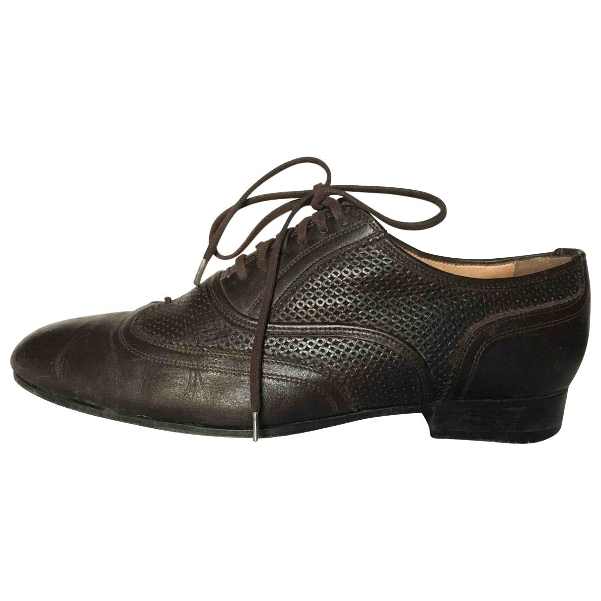 Neil Barrett - Derbies   pour femme en cuir - marron