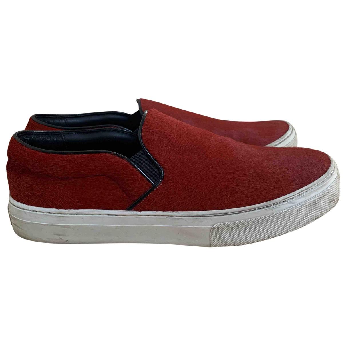 Celine \N Sneakers in  Rot Kalbsleder in Pony-Optik