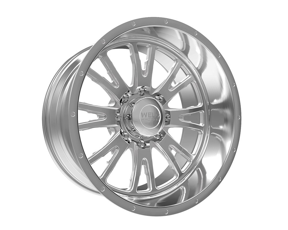 Weld Racing 83D3-22455-760N XT Slingblade 22x14 5x5 -76mm Brushed w/Tinted Clear Smooth Lip