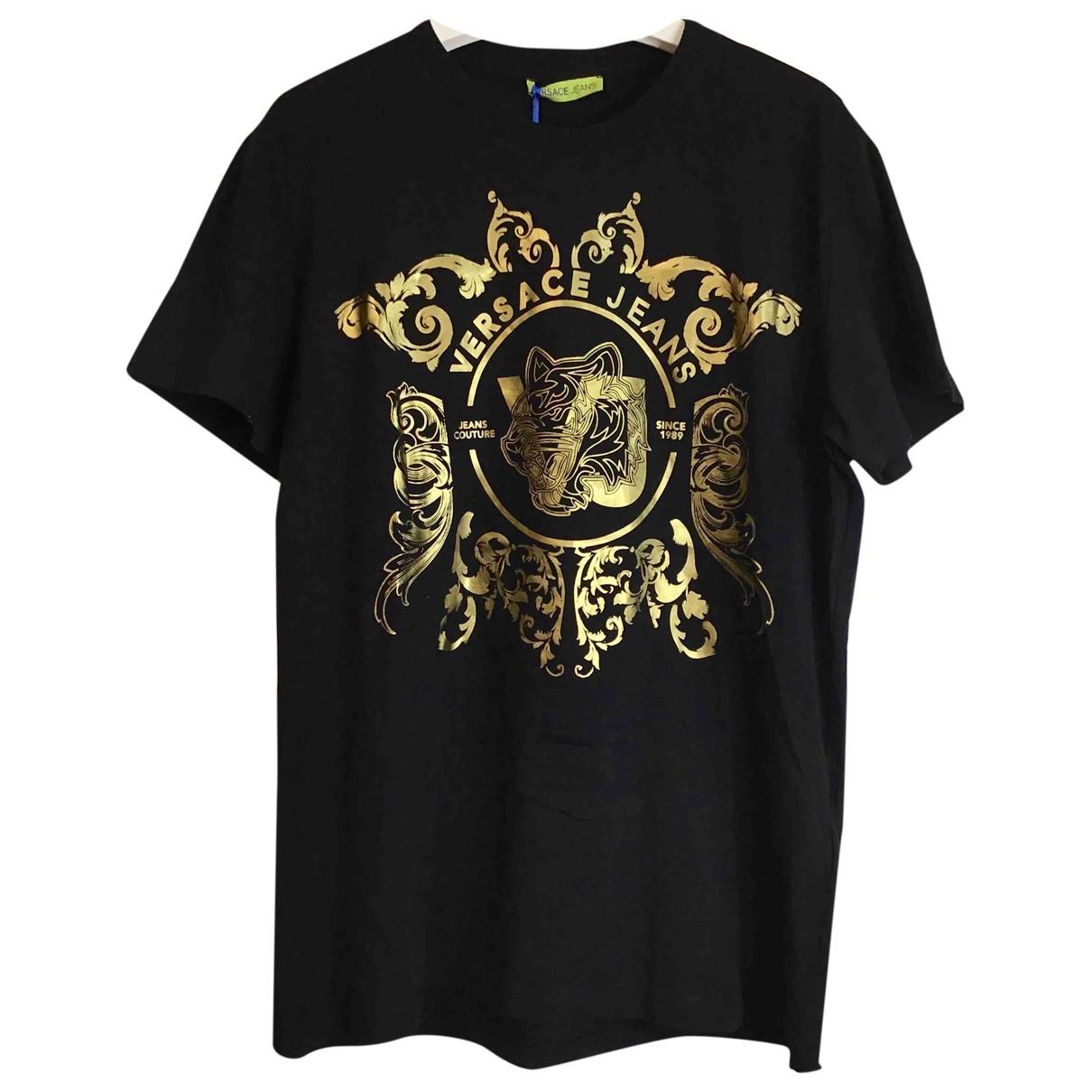Versace Jean - Tee shirts   pour homme en coton - noir