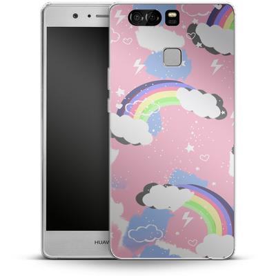 Huawei P9 Silikon Handyhuelle - Unicorn Rainbow von Mukta Lata Barua