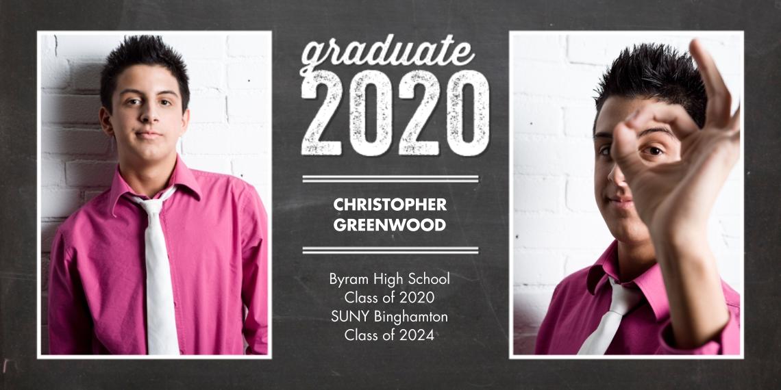 2020 Graduation Announcements 4x8 Flat Card Set, 85lb, Card & Stationery -2020 Graduate Woodgrain by Tumbalina