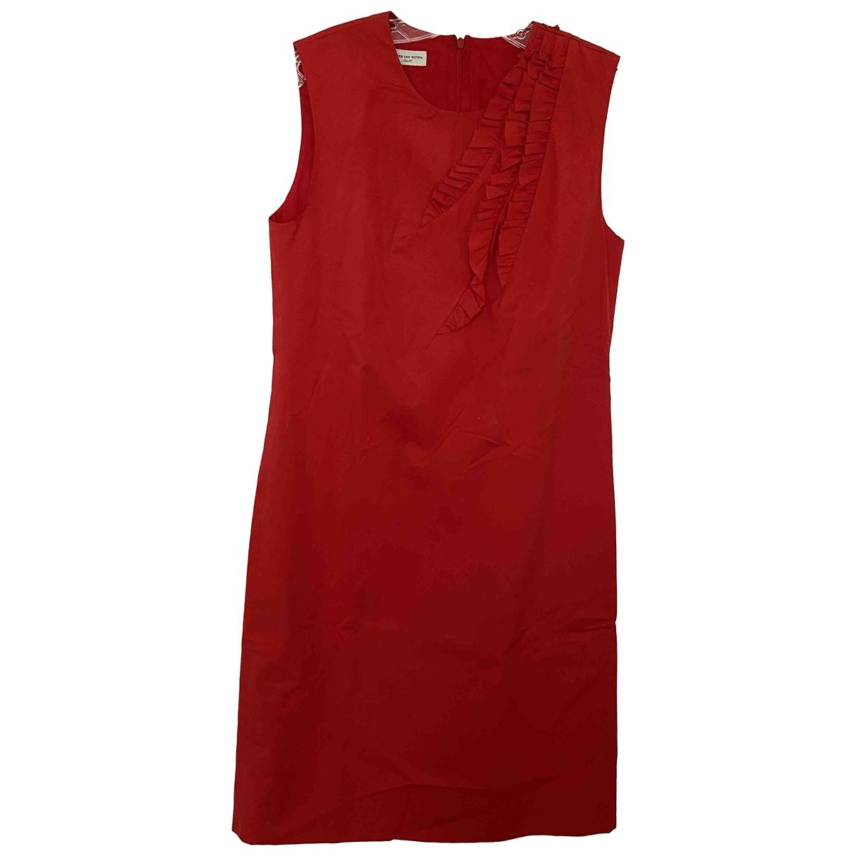 Dries Van Noten - Robe   pour femme en coton - rouge