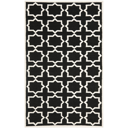 Safavieh Walter Hand Woven Flat Weave Area Rug, One Size , Black