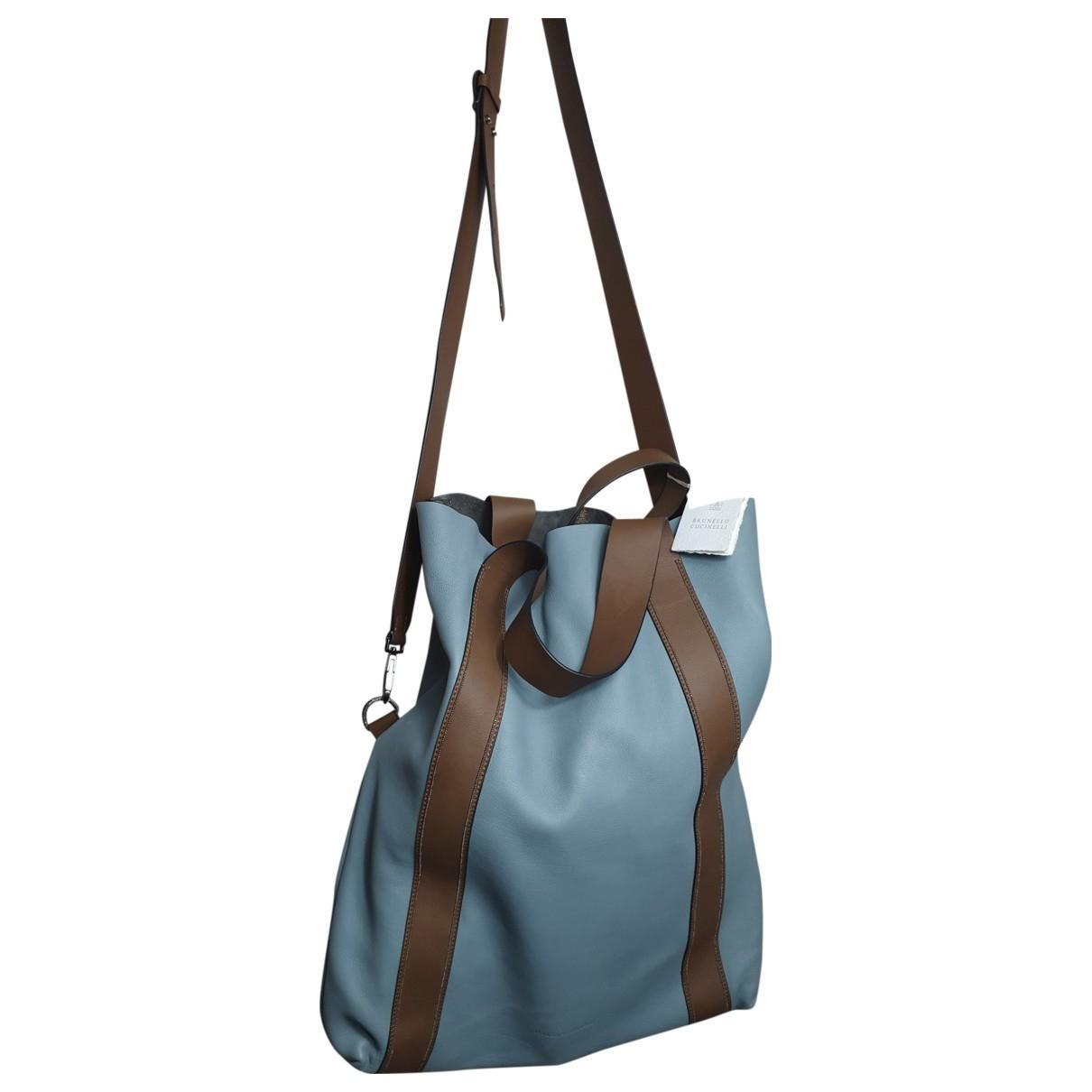 Brunello Cucinelli \N Handtasche in  Blau Leder