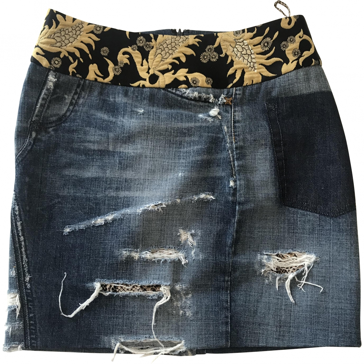 Dolce & Gabbana \N Blue Denim - Jeans skirt for Women 40 IT