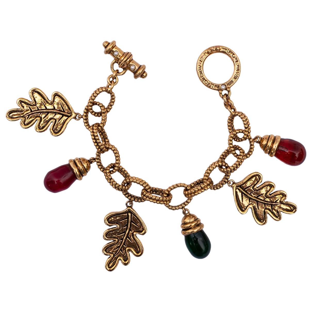 Loewe - Bracelet   pour femme en metal - dore
