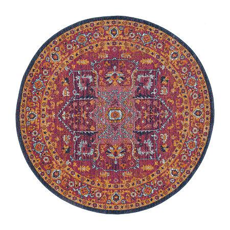 Safavieh Damjan Oriental Round Rugs, One Size , Multiple Colors