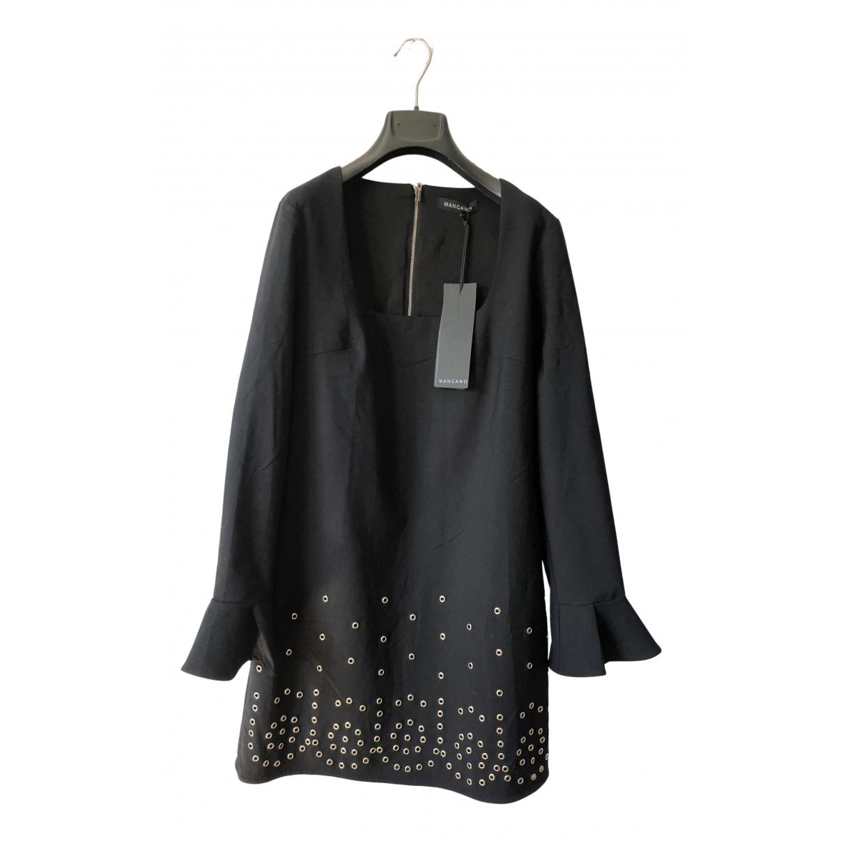 Mangano \N Kleid in  Schwarz Baumwolle