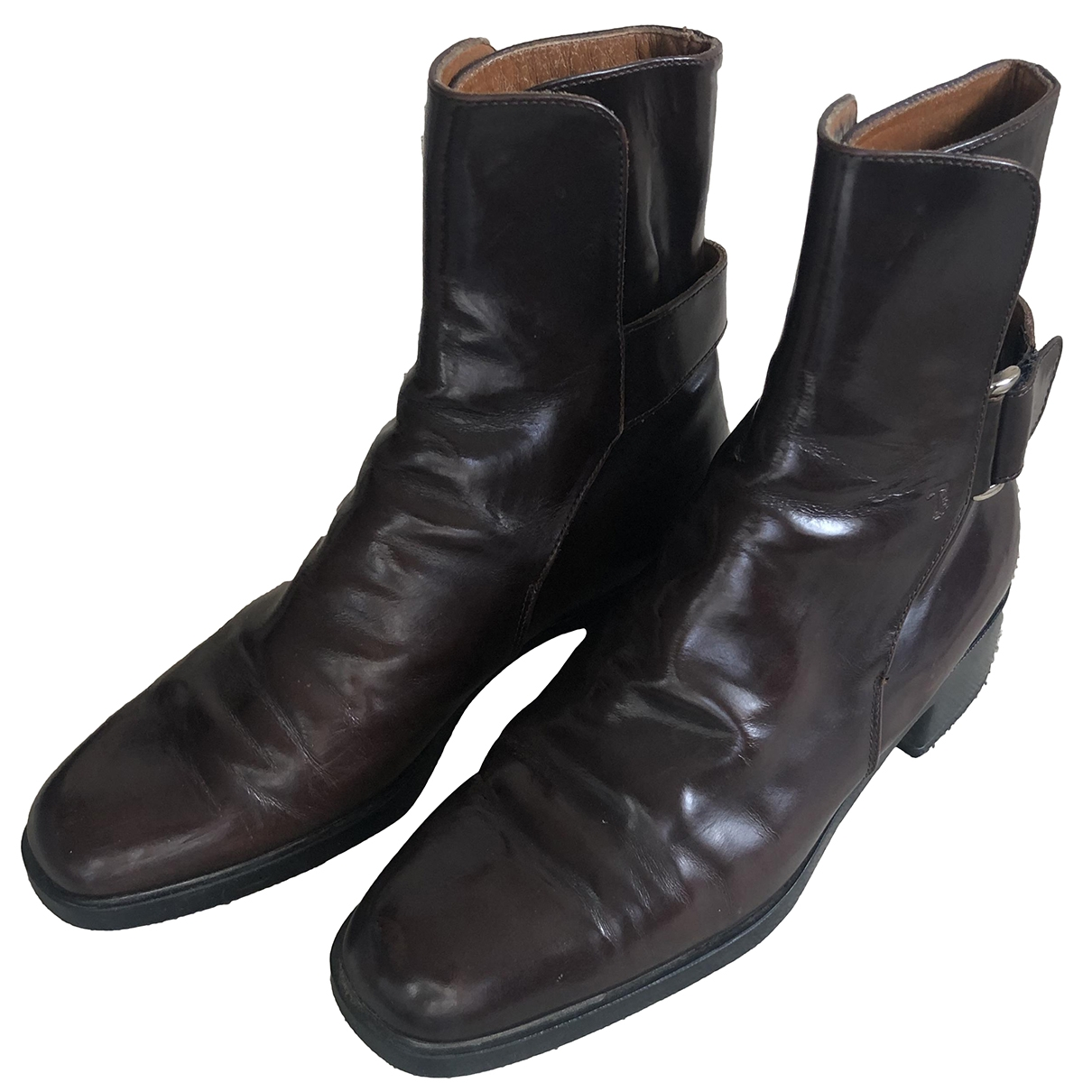 Tod's \N Brown Leather Ankle boots for Women 36 EU